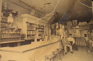 Bangor Central Pharmacy, interior.